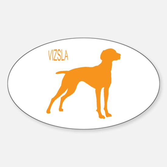 Vizsla Silhouette Oval Decal