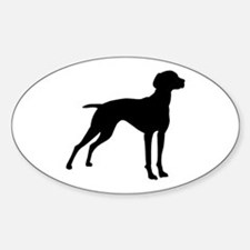 Vizsla Dog Oval Decal