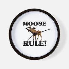 Moose Rule! Wall Clock
