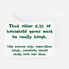 Tough Germs Greeting Card