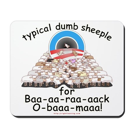 Baa-rack Obama Sheeple Mousepad