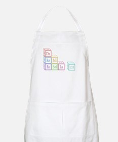 Do Re Mi Fa Sol La Ti Baby Blocks BBQ Apron