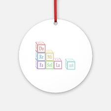 Do Re Mi Fa Sol La Ti Baby Blocks Ornament (Round)
