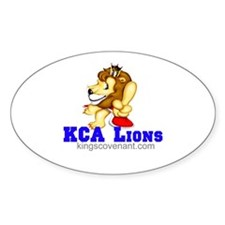 KCALions Oval Decal