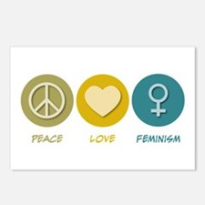 Peace Love Feminism Postcards (Package of 8)