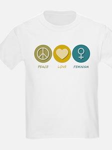 Peace Love Feminism T-Shirt
