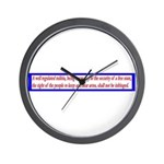Infringement-2b Wall Clock