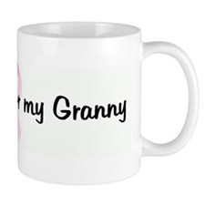 I wear pink for my Granny pin Mug