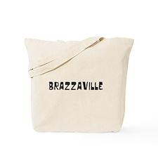 Brazzaville Faded (Black) Tote Bag