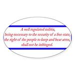 Infringement-4b Oval Sticker