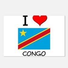 I Love Congo Postcards (Package of 8)