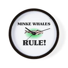 Minke Whales Rule! Wall Clock