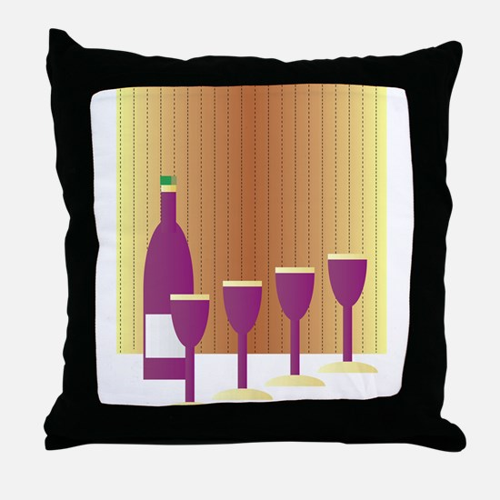 Four Cups Throw Pillow