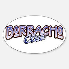 Borracho Oval Decal
