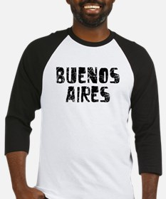 Buenos Aires Faded (Black) Baseball Jersey