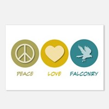 Peace Love Falconry Postcards (Package of 8)