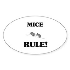 Mice Rule! Oval Decal