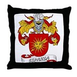 Esparza Family Crest Throw Pillow