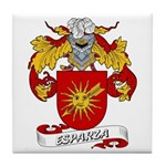 Esparza Family Crest Tile Coaster