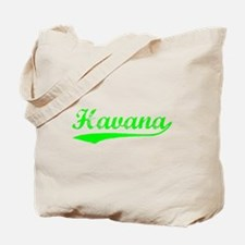 Vintage Havana (Green) Tote Bag