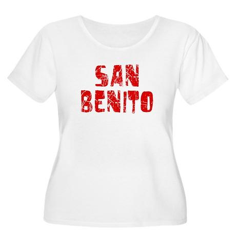 San Benito Faded (Red) Women's Plus Size Scoop Nec