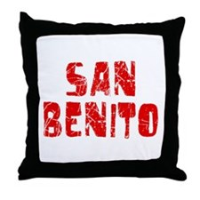 San Benito Faded (Red) Throw Pillow