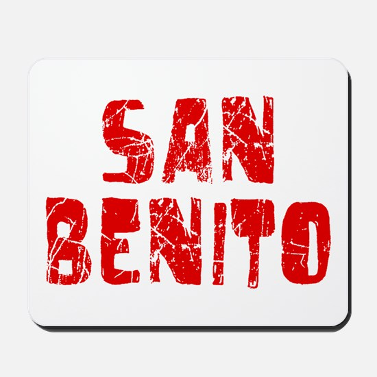 San Benito Faded (Red) Mousepad