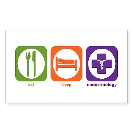 Eat Sleep Endocrinology Rectangle Sticker