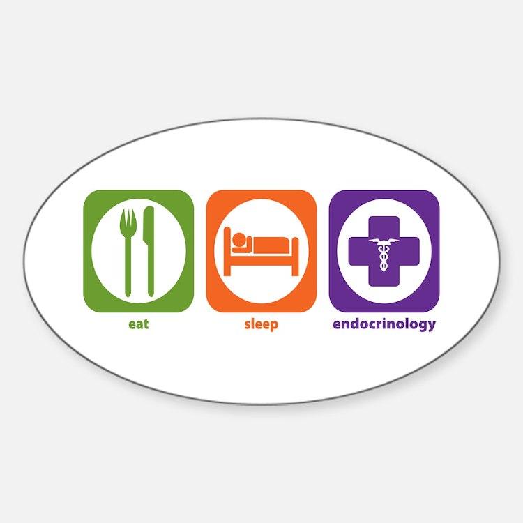 Eat Sleep Endocrinology Oval Decal