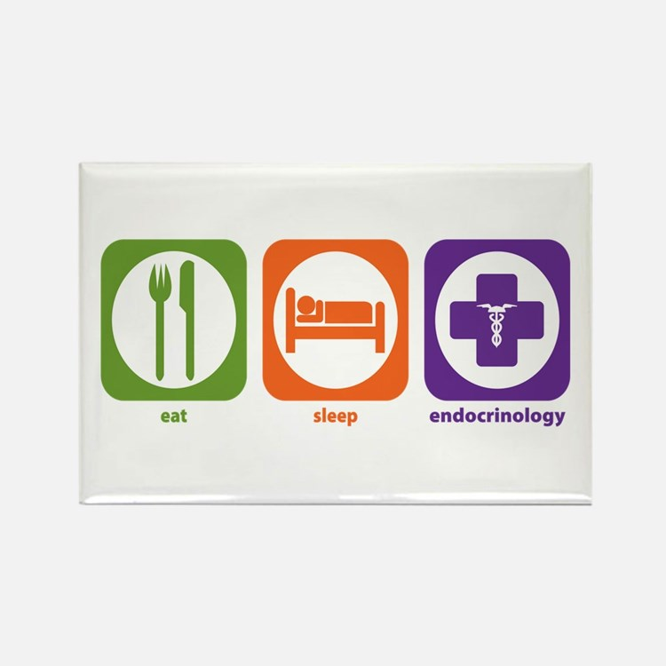 Eat Sleep Endocrinology Rectangle Magnet (10 pack)