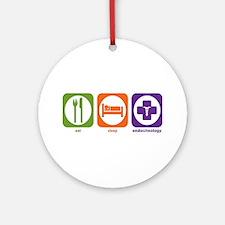 Eat Sleep Endocrinology Ornament (Round)
