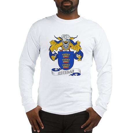 Esteban Family Crest Long Sleeve T-Shirt