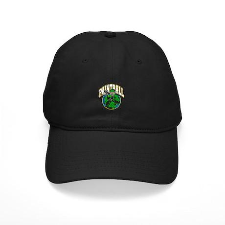 Paint Ball Logo Black Cap
