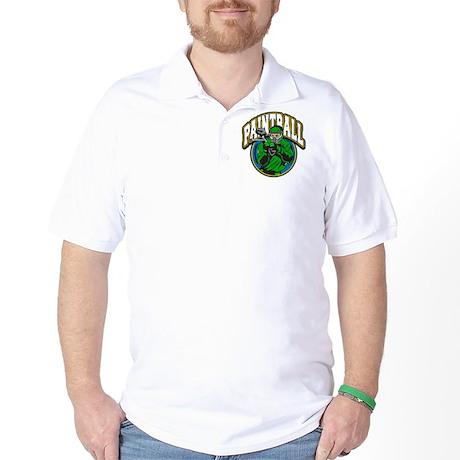 Paint Ball Logo Golf Shirt