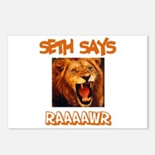 Seth Says Raaawr (Lion) Postcards (Package of 8)