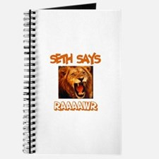 Seth Says Raaawr (Lion) Journal