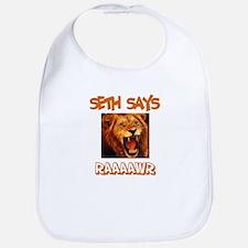 Seth Says Raaawr (Lion) Bib