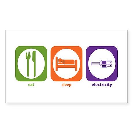 Eat Sleep Electricity Rectangle Sticker