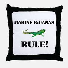 Marine Iguanas Rule! Throw Pillow