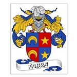 Fabra Family Crest Small Poster