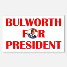 Bulworth For President Rectangle Decal