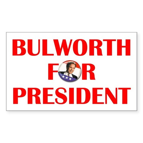 Bulworth For President Rectangle Sticker