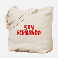 San Fernando Faded (Red) Tote Bag