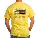 Onan Schedule Yellow T-Shirt