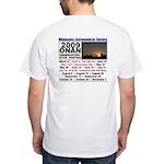 Onan Schedule White T-Shirt
