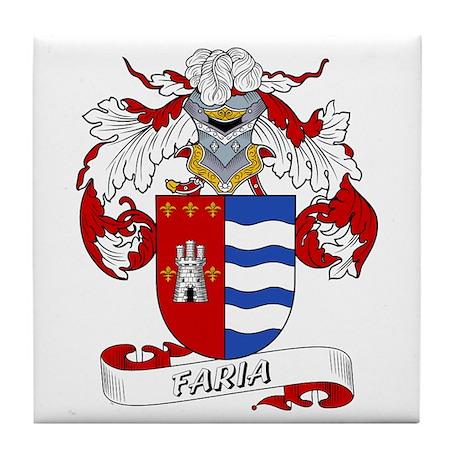 Faria Family Crest Tile Coaster