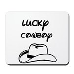 LUCKY COWBOY HAT Mousepad