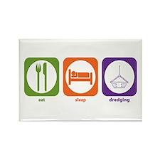 Eat Sleep Dredging Rectangle Magnet