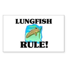 Lungfish Rule! Rectangle Decal