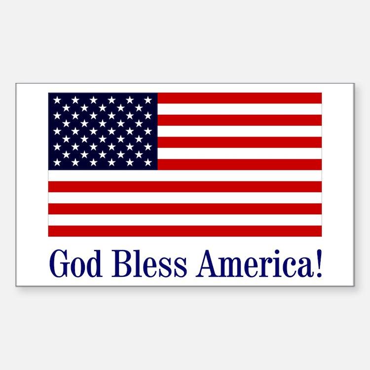 God Bless America Rectangle Sticker 10 pk)
